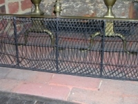 Brass and Wire Fireplace Fender