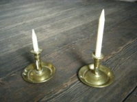Pair of Push Button Candlesticks