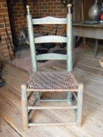 Green Painted Ladderback Chair