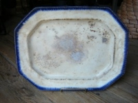 Platter with Blue Border