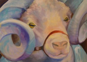 "Ram's Head: Giclee print by Corneille Little 12"" by 16"""